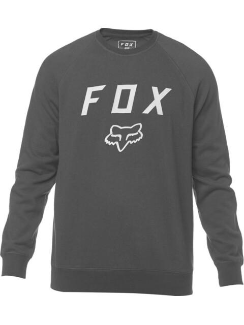 Fox Legacy Crew Neck Fleece Pullover Men black